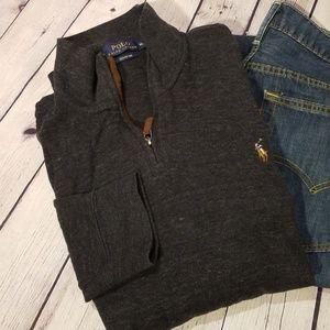 Polo By Ralph Lauren Grey Quarter Zip Pullover